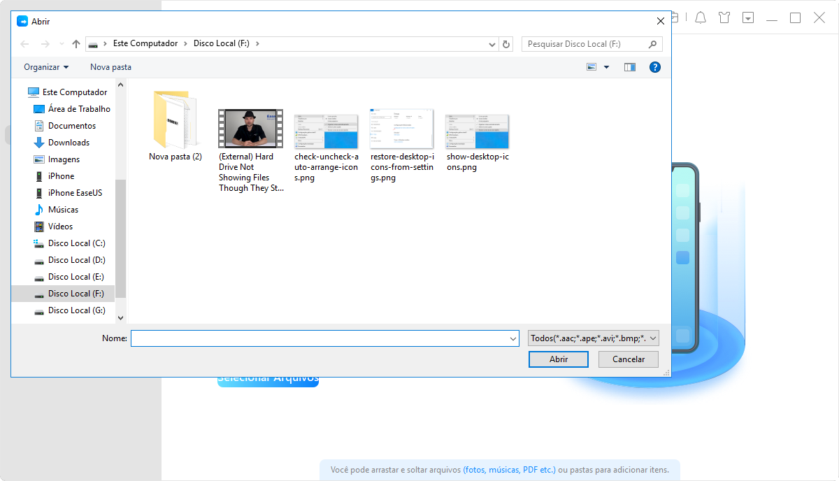 Mova e transfira dados para dispositivos iOS 11, como iPhone etc.