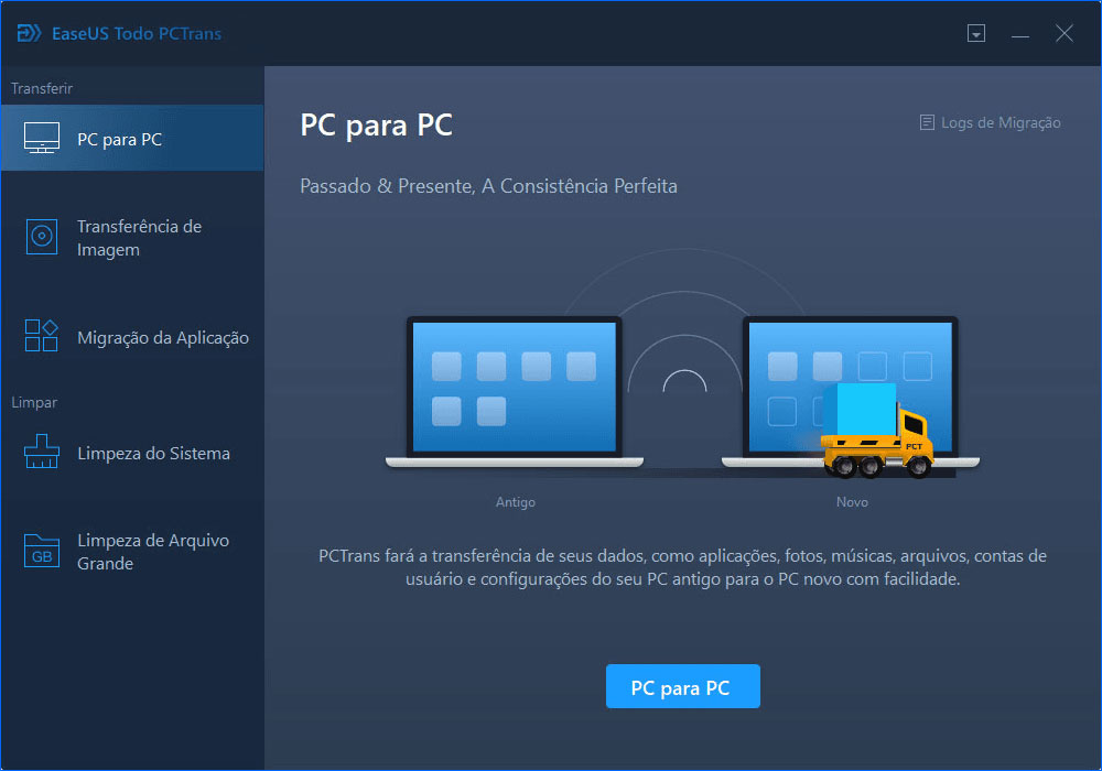 Transferir software para windows 10