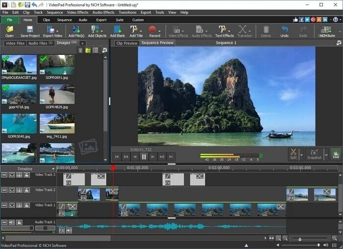 videopad - melhor alternativa ao windows movie maker