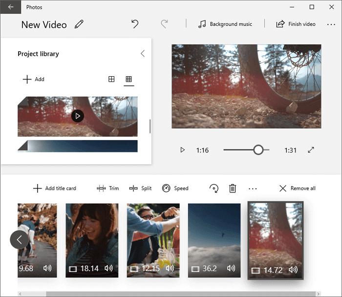 Photos - melhor alternativa ao windows movie maker
